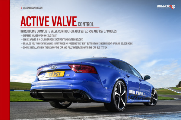Milltek SSXAU677 Active Valve Control - Audi S5 3.0 V6 Turbo Coupe Only B9 (Sport Diff Models Only