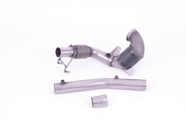 Milltek SSXVW563 Cast Downpipe with HJS High Flow Sports Cat - Audi A1 40TFSI 5 Door 2.0 (200PS) wi