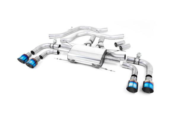 Milltek SSXAR004 Front Pipe-back Quad 100mm GT100 - Alfa Romeo Giulia Quadrifoglio 2.9 V6 Bi-Turbo (