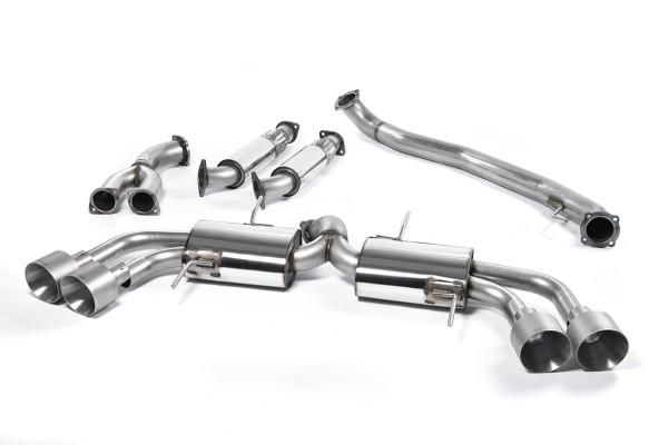 Milltek SSXNI011 Primary Cat-back Quad 127mm GT127 - Nissan GT-R R35 (2009 - 2015)