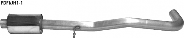 Bastuck FDFI/JH1-1 Ford Fusion Fusion JU2 (Bj. 2002-2005) Vorschalldämpfer