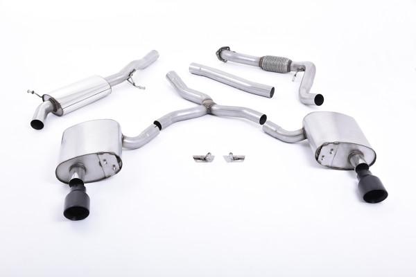 Milltek SSXAU611 Cat-back Dual GT100 - Audi A4 2.0 TFSI B9 Quattro Saloon & Avant (Non OPF/GPF Model