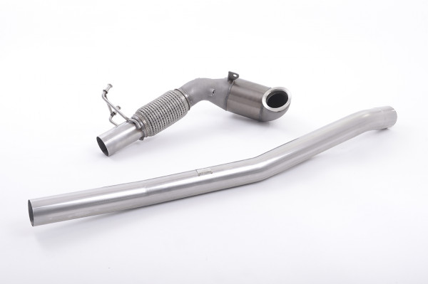 Milltek SSXAU381 Large Bore Downpipe and Hi-Flow Sports Cat - Audi A3 2.0 TFSI quattro Sedan 8V (US