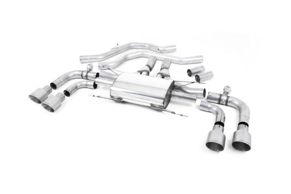 Milltek SSXAR003 Front Pipe-back Quad 100mm GT100 - Alfa Romeo Giulia Quadrifoglio 2.9 V6 Bi-Turbo (