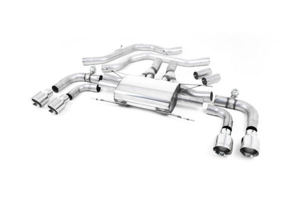 Milltek SSXAR001 Front Pipe-back Quad 100mm GT100 - Alfa Romeo Giulia Quadrifoglio 2.9 V6 Bi-Turbo (