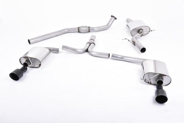Milltek SSXAU436 Cat-back 100mm GT100B - Audi A4 2.0 TFSI S line B8 (2WD and quattro Tiptronic-only)