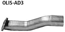 Bastuck OLIS-AD3 Opel Insignia A Insignia Kombi 4WD Adapter Komplettanlage auf Kat