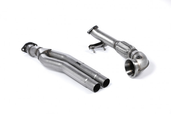 Milltek SSXAU593 Primary Catalyst Bypass Pipe and Turbo Elbow - Audi RS3 Sportback (8V MQB - Pre Fa