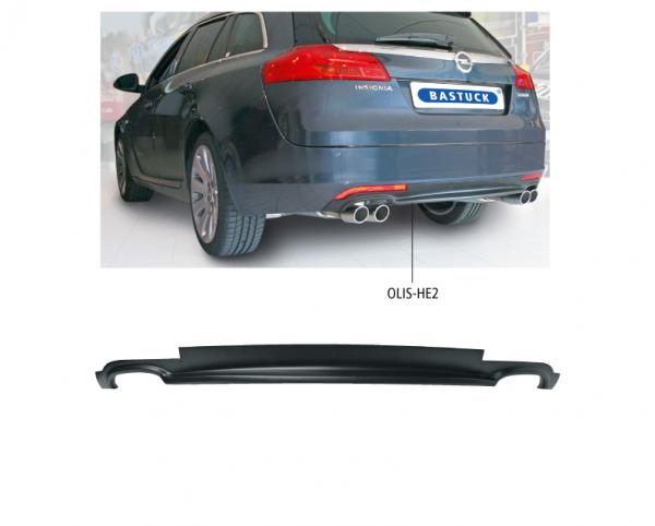 Bastuck OLIS-HE2 Opel Insignia Insignia Kombi Heckschürzen-Einsatz, mit Ausschnitt für 2x Doppel-End
