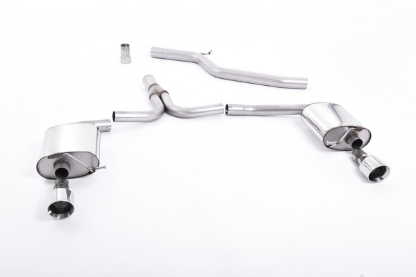 Milltek SSXAU298 Cat-back GT100 - Audi A4 2.0 TDi B8 140PS / 177PS 2WD Saloon and Avant (S line mode