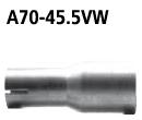 Bastuck A70-45.5VW Opel Astra J Astra J Turbo Benziner mit serienmäßig 2 Schalldämpfern (außer Carav