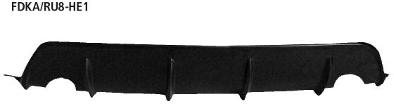 Bastuck FDKA/RU8-HE1 Ford KA KA Typ RU8 (ab Bj. 2009) Heckschürzenansatz, lackierfähig, für Einfach-