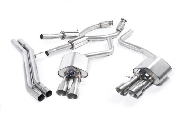 Milltek SSXAU466 Cat-back Quad 100mm GT100 - Audi S8 4.0 TFSI quattro Tiptronic (2013 - 2021)