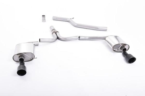 Milltek SSXAU437 Cat-back 100mm GT100B - Audi A4 2.0 TDi B8 140PS / 177PS 2WD Saloon and Avant (S li