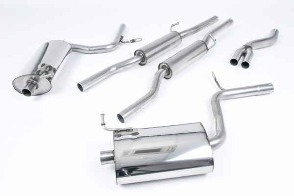 Milltek SSXAU517 Cat-back Dual 100mm GT100 - Audi A4 2.0 TFSI B7 quattro and DTM (2005 - 2008)