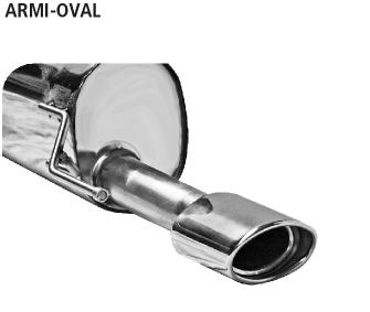 Bastuck ARMI-OVAL Alfa Romeo Mito Endschalldämpfer mit Einfach-Endrohr oval 120 x 80 mm