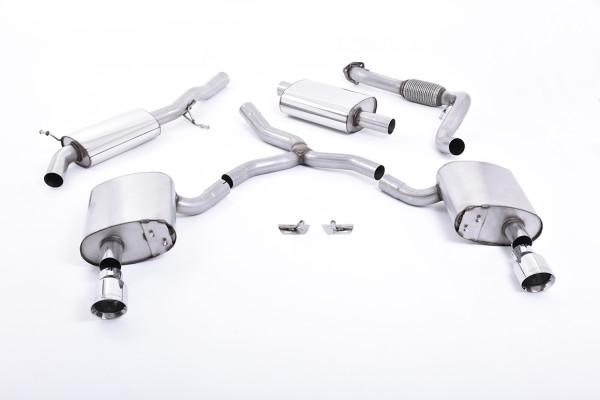 Milltek SSXAU608 Cat-back Dual GT100 - Audi A4 2.0 TFSI B9 Quattro Saloon & Avant (Non OPF/GPF Model