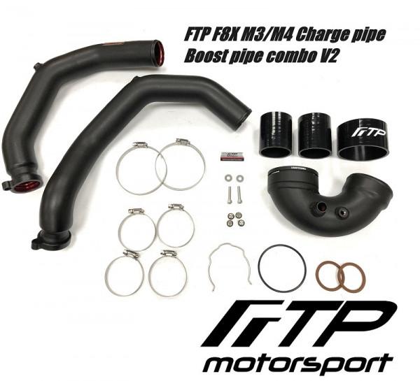 SG-71350 FTP BMW S55 F87 M2 M3 M4 Charge / Boost Pipe Set F80 F82 F83 Schwarz