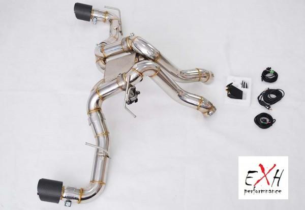 EXH Sportauspuff / Downpipes McLaren 570S mit elektrischer Klappe Carbon Endrohre