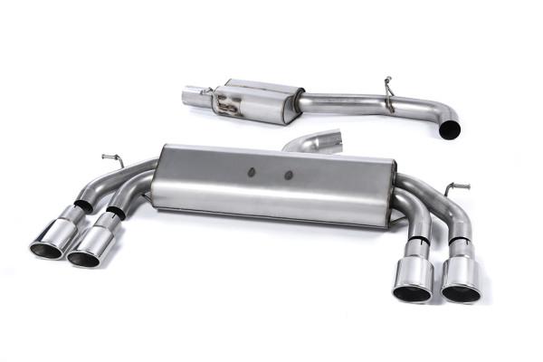 Milltek SSXAU535 Cat-back 104x80mm Oval - Audi S3 2.0 TFSI quattro Sportback 8V/8V.2 (Non-GPF Equipp