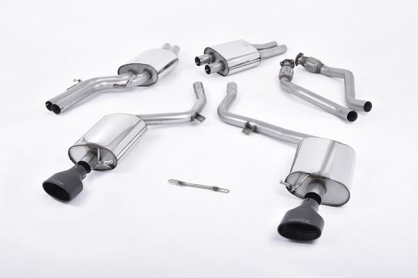 Milltek SSXAU266 Cat-back 150 X 95mm Black Oval - Audi S5 3.0 TFSI B8 Coupé & Cabriolet (S tronic) (