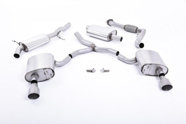 Milltek SSXAU609 Cat-back Dual 100mm GT100 - Audi A4 2.0 TFSI B9 Quattro Saloon & Avant (Non OPF/GPF