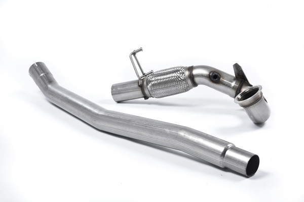Milltek SSXVW348 Large-bore Downpipe and De-cat - Audi S3 2.0 TFSI quattro Saloon & Cabrio 8V/8V.2