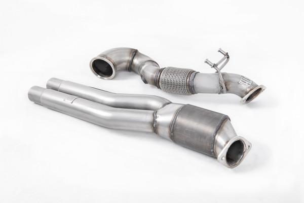 Milltek SSXAU726 Large Bore Downpipe and Hi-Flow Sports Cat - Audi RS3 Saloon / Sedan 400PS (8V MQB