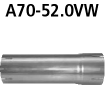 Bastuck A70-52.0VW Alfa Romeo Brera Brera 4WD Adapter Komplettanlage auf Katalysator auf Ø 52.0 mm