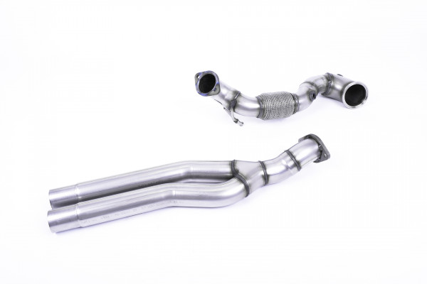 Milltek SSXAU727 Large-bore Downpipe and De-cat - Audi RS3 Saloon / Sedan 400PS (8V MQB) - Non-OPF/