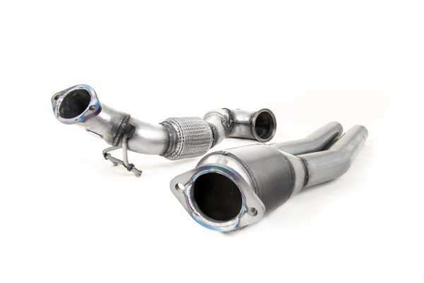 Milltek SSXAU726 Large Bore Downpipe and Hi-Flow Sports Cat - Audi TT Mk3 TTRS 2.5TFSI Quattro (Non