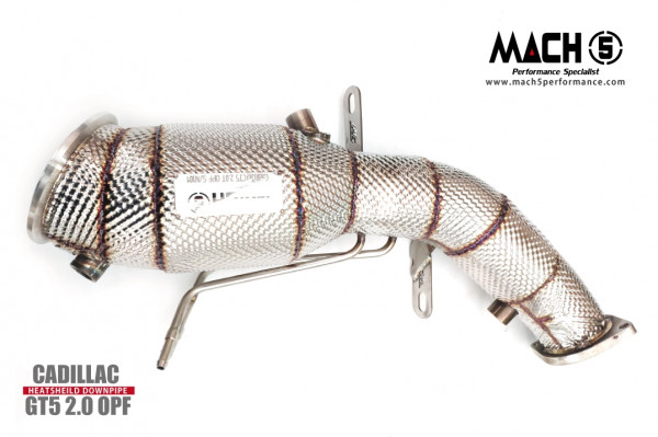 Mach5 Downpipe Cadillac CT5 2.0T OPF Catless