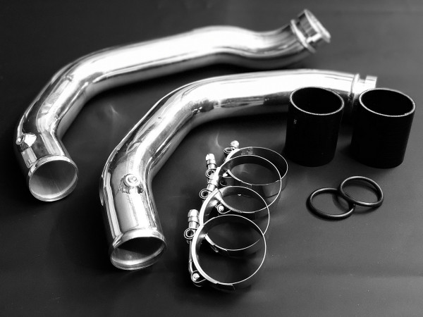 EXH Aluminium Charge Pipe Set 2014+ BMW M3 / M4 F80 F82 F83 S55 Silber