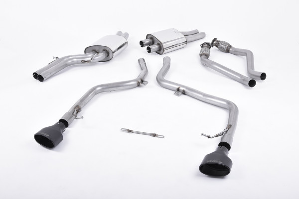 Milltek SSXAU264 Cat-back 150 X 95mm Black Oval - Audi S5 3.0 TFSI B8 Coupé & Cabriolet (S tronic) (