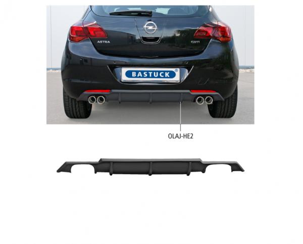 Bastuck OLAJ-HE2 Opel Astra J Astra J Turbo incl. Diesel Heckschürzenansatz mit Ausschnitt für 2 x D