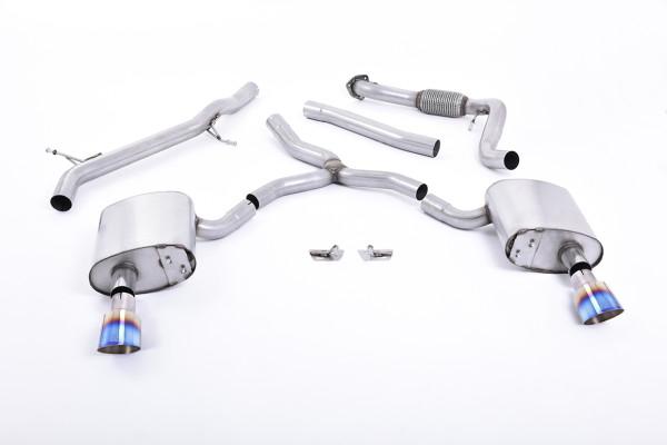 Milltek SSXAU618 Cat-back GT-100 - Audi A4 2.0 TFSI B9 Quattro Saloon & Avant (Non OPF/GPF Models &