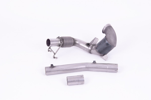 Milltek SSXVW564 Cast Downpipe with HJS High Flow Sports Cat - Audi A1 40TFSI 5 Door 2.0 (200PS) wi