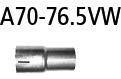Bastuck A70-76.5VW Volkswagen Arteon Arteon 3H TSI 4Motion (ab Baujahr 2017) Adapter Performance Kat