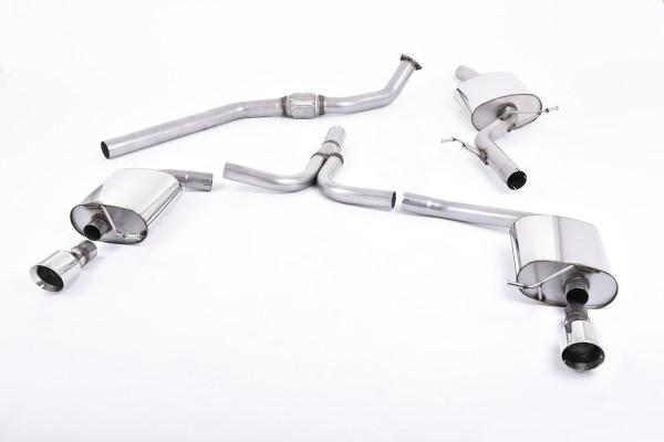 Milltek SSXAU302 Cat-back GT100 - Audi A4 2.0 TFSI S line B8 (2WD and quattro Tiptronic-only) Saloon
