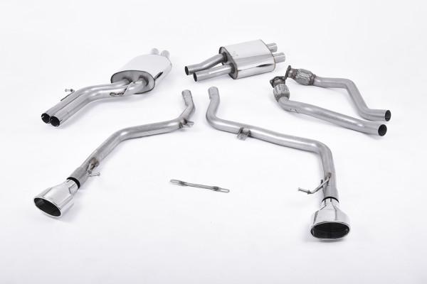 Milltek SSXAU357 Cat-back 150 X 95mm Polished Oval - Audi S5 3.0 TFSI B8 Coupé & Cabriolet (S tronic