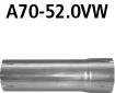 Bastuck A70-52.0VW Alfa Romeo Spider Spider 4WD Adapter Komplettanlage auf Katalysator auf Ø 52.0 mm
