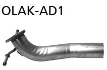 Bastuck OLAK-AD1 Opel Astra K Astra K 1.0l Verbindungsrohr vorne
