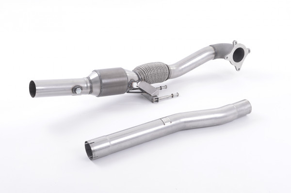 Milltek SSXAU200 Cast Downpipe with HJS High Flow Sports Cat - Audi A3 2.0T FSI quattro 5 door Spor