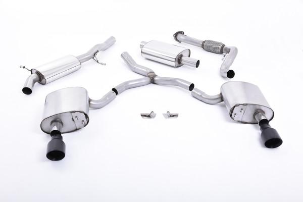Milltek SSXAU607 Cat-back Dual GT100 - Audi A4 2.0 TFSI B9 Quattro Saloon & Avant (Non OPF/GPF Model