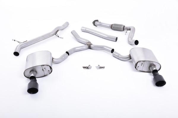 Milltek SSXAU615 Cat-back Dual GT100 - Audi A4 2.0 TFSI B9 Quattro Saloon & Avant (Non OPF/GPF Model