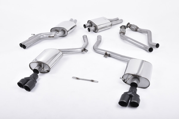 Milltek SSXAU556 Cat-back Twin 80mm GT80 - Audi S4 3.0 Supercharged V6 B8 (2009 - 2012)