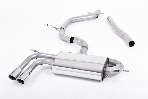 Milltek SSXAU330 Particulate Filter-back Twin 80mm GT80 - Audi A3 2.0 TDI 170bhp 2WD Sportback DPF (