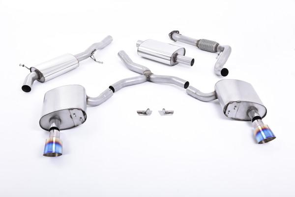 Milltek SSXAU610 Cat-back GT-100 - Audi A4 2.0 TFSI B9 Quattro Saloon & Avant (Non OPF/GPF Models &