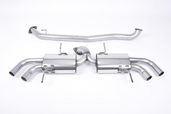 Milltek SSXNI003 Secondary Cat-back Quad 127mm GT127 - Nissan GT-R R35 (2009 - 2015)