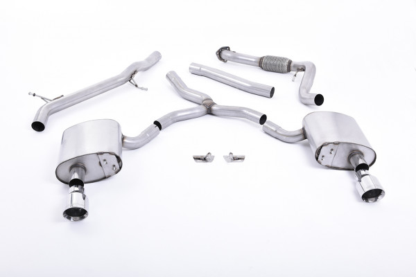 Milltek SSXAU616 Cat-back Dual GT100 - Audi A4 2.0 TFSI B9 Quattro Saloon & Avant (Non OPF/GPF Model